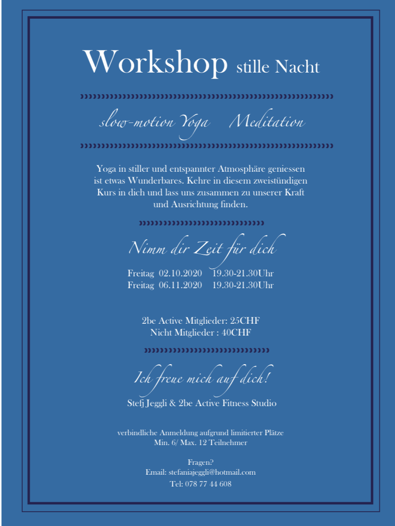 Workshp stille Nacht 2